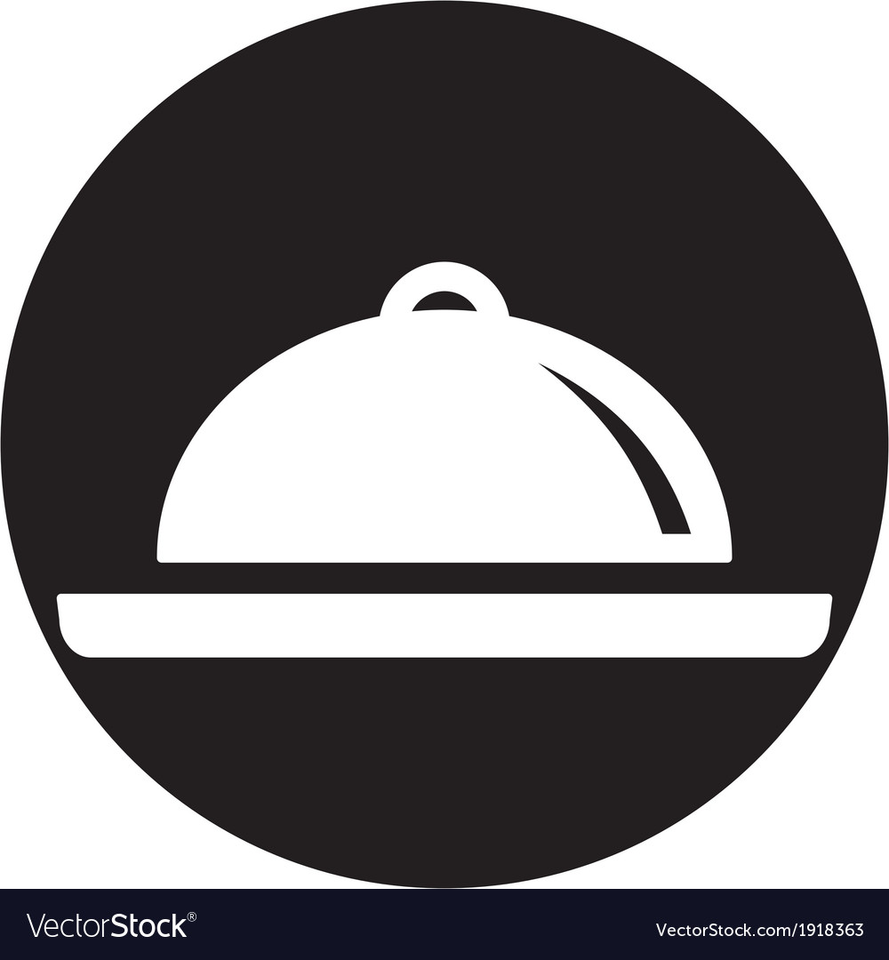 Food platter icon vector | Price: 1 Credit (USD $1)