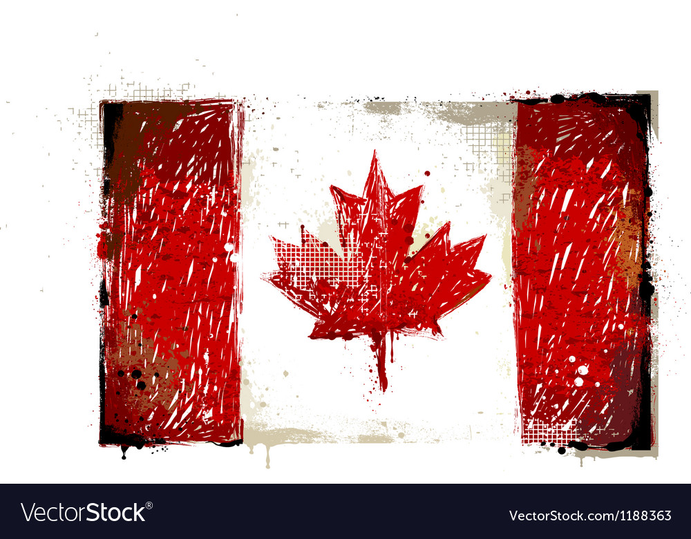 Grungy canadian flag vector | Price: 1 Credit (USD $1)