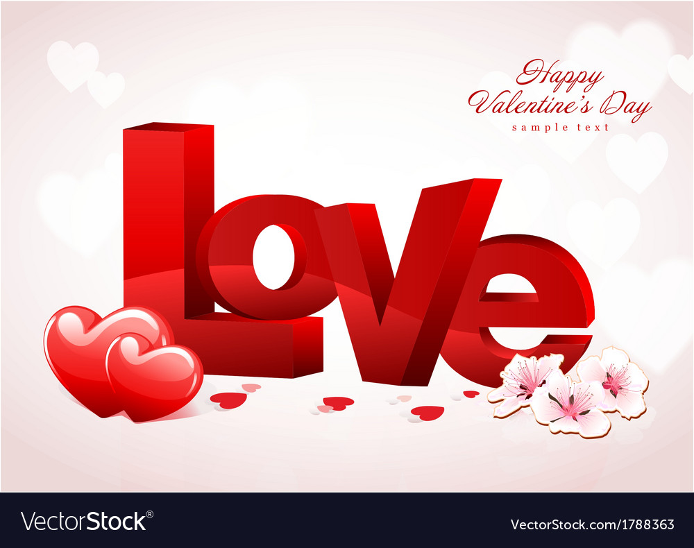 Love valentine background design vector | Price: 1 Credit (USD $1)