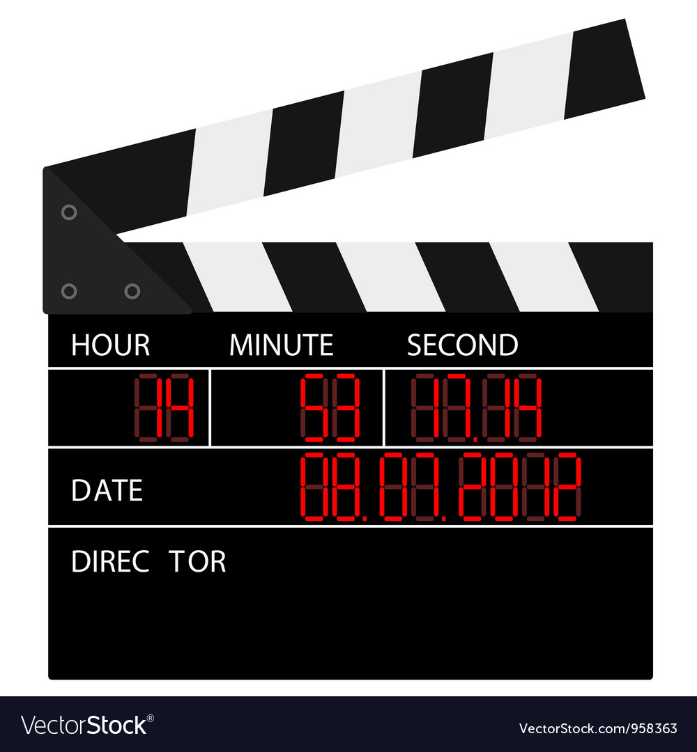 Open digital movie clapboard vector | Price: 1 Credit (USD $1)