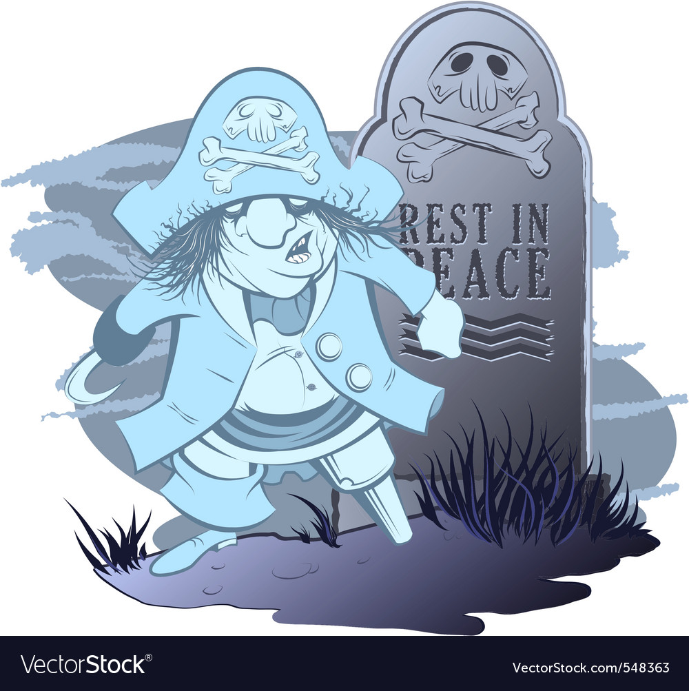 Pirate ghost vector | Price: 3 Credit (USD $3)