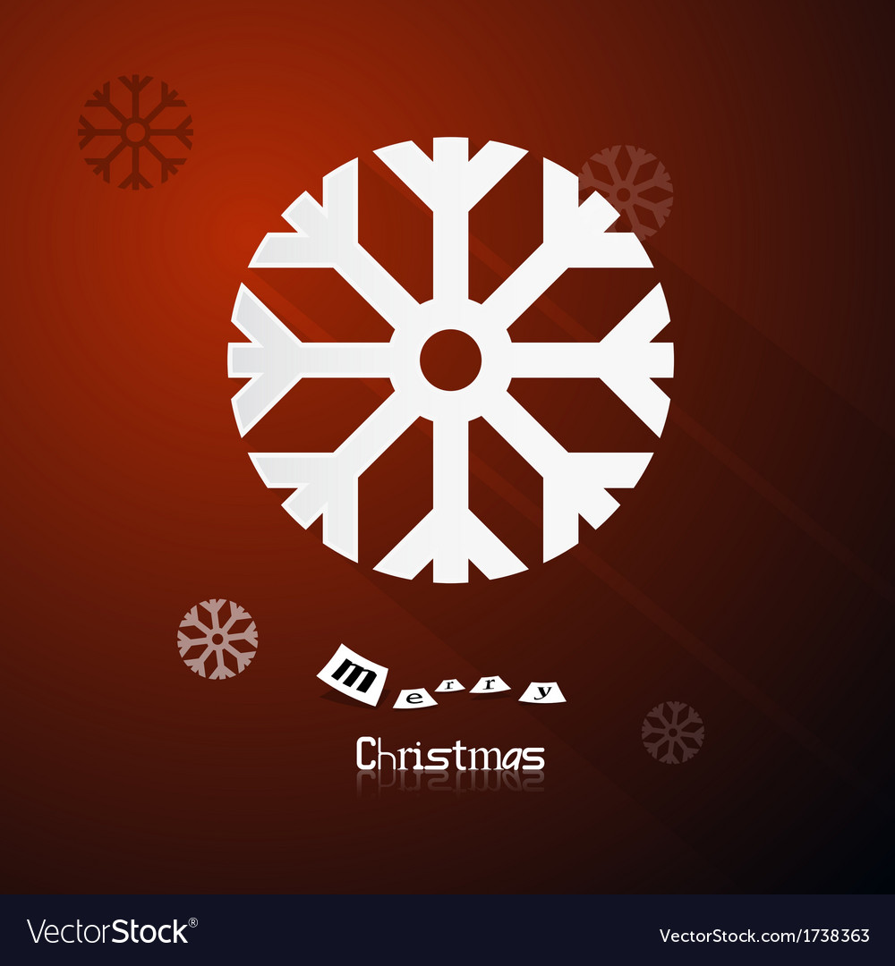 Red abstract merry christmas background vector | Price: 1 Credit (USD $1)
