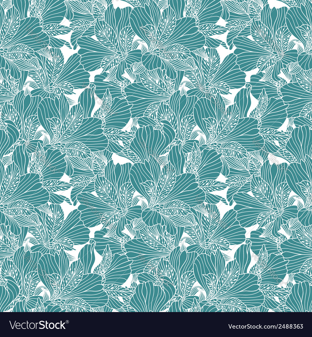 Seamless white alstroemeria pattern vector | Price: 1 Credit (USD $1)