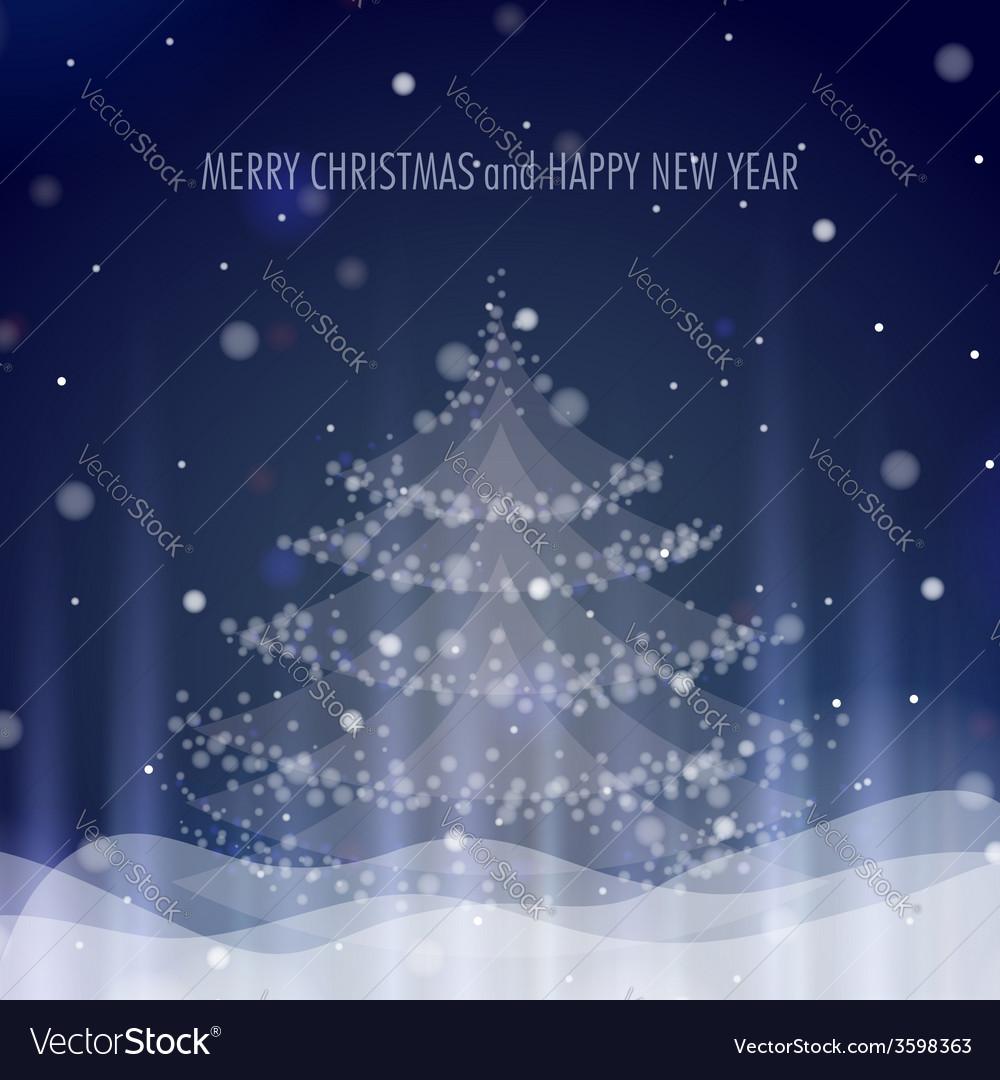 Shining christmas tree vector | Price: 1 Credit (USD $1)