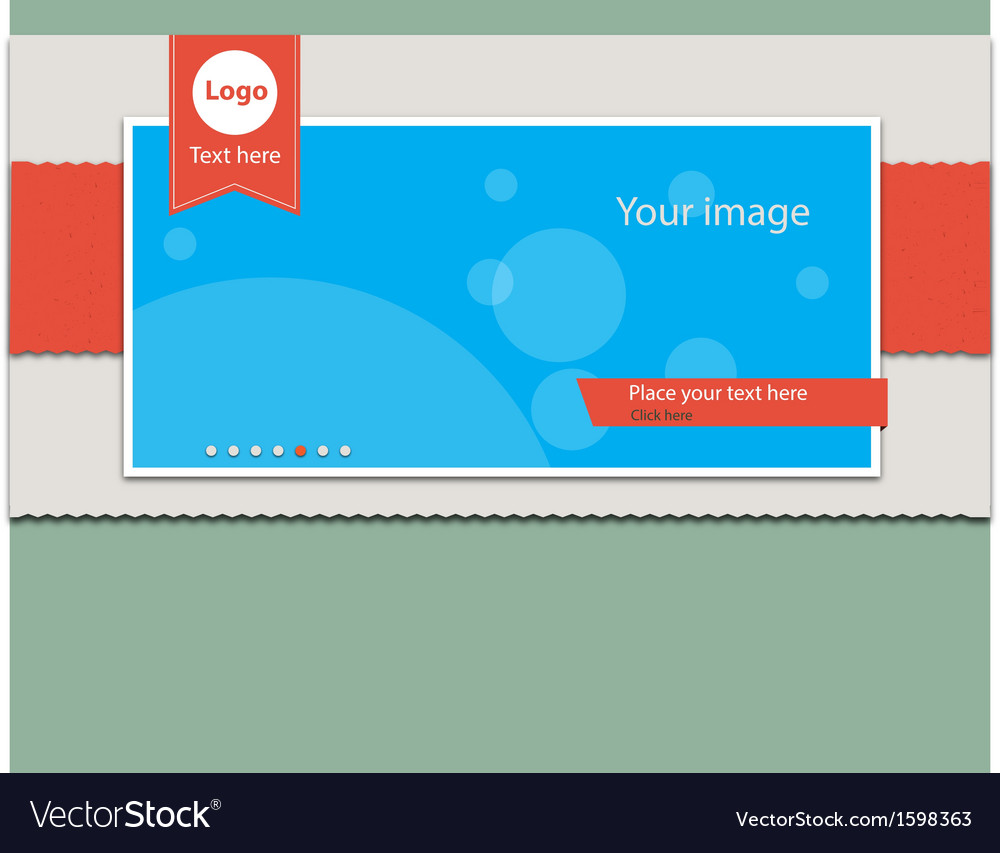 Slide banner header vector | Price: 1 Credit (USD $1)