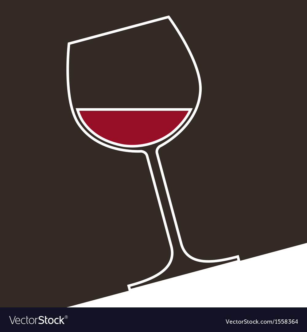 A glass of red wine vector | Price: 1 Credit (USD $1)