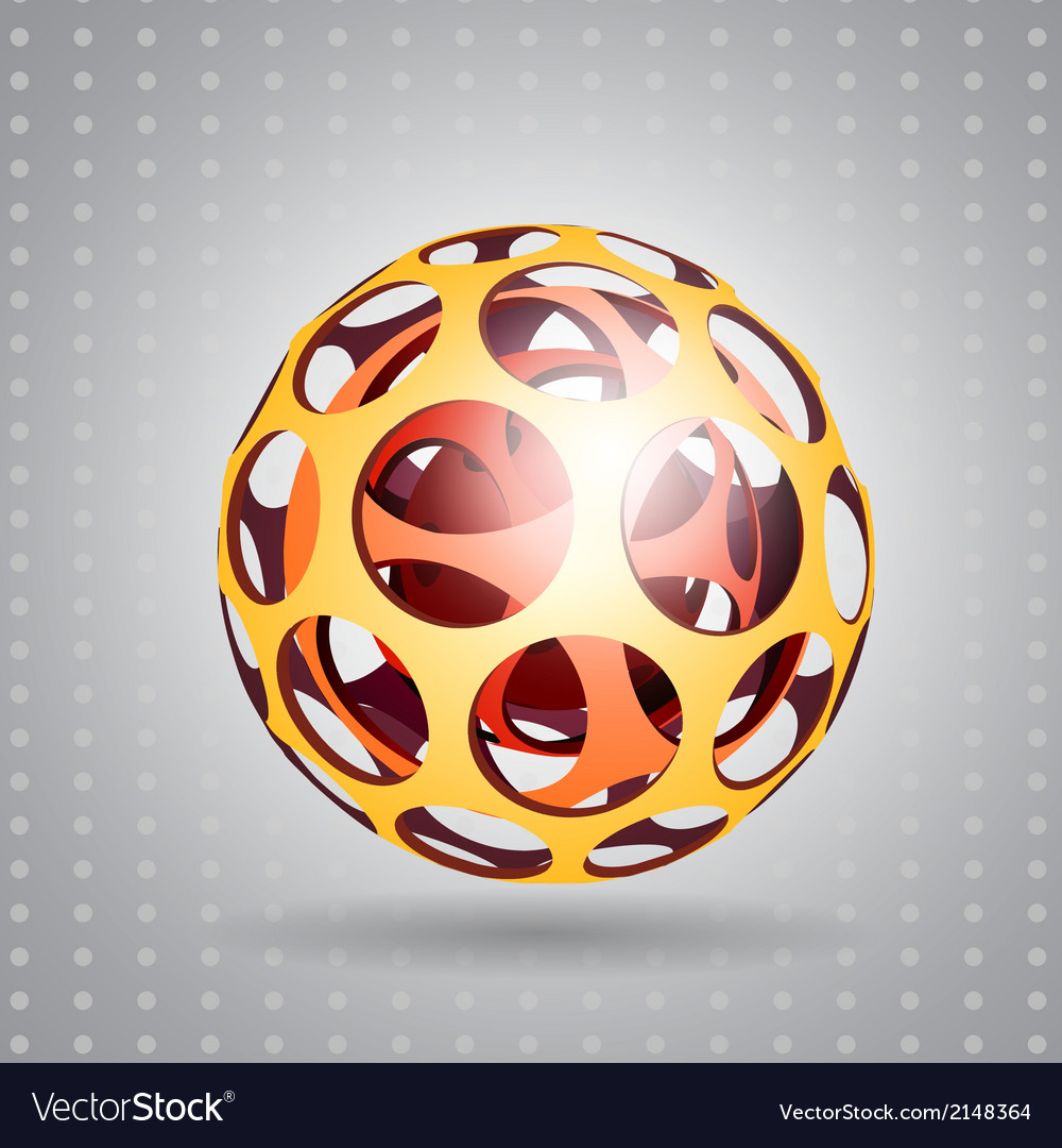 Abstract technology sphere vector | Price: 1 Credit (USD $1)