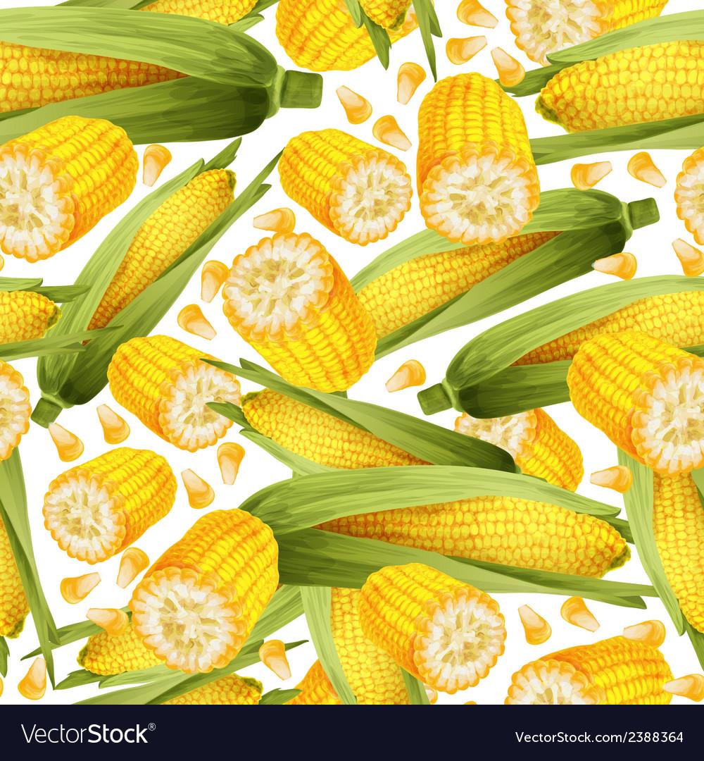 Corn seamless pattern vector   Price: 1 Credit (USD $1)