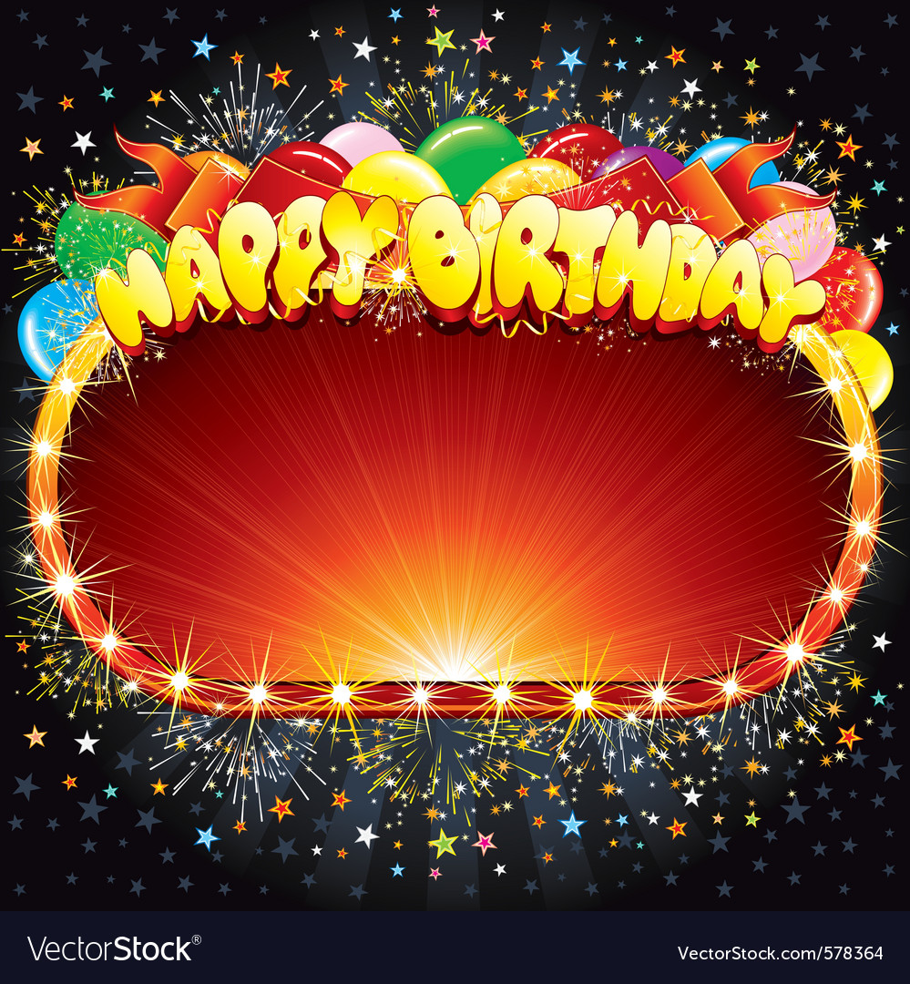 Happy birthday background for your congratulations vector | Price: 1 Credit (USD $1)
