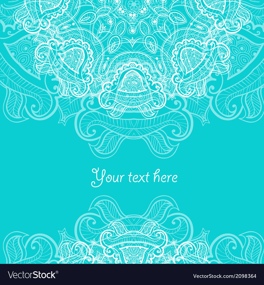 Invitation card with lace ornament vector | Price: 1 Credit (USD $1)