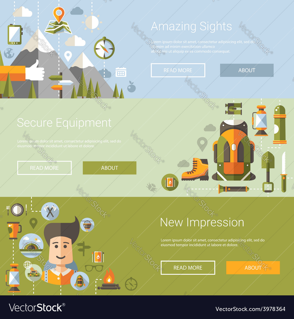Modern flat design of camping and vector | Price: 1 Credit (USD $1)