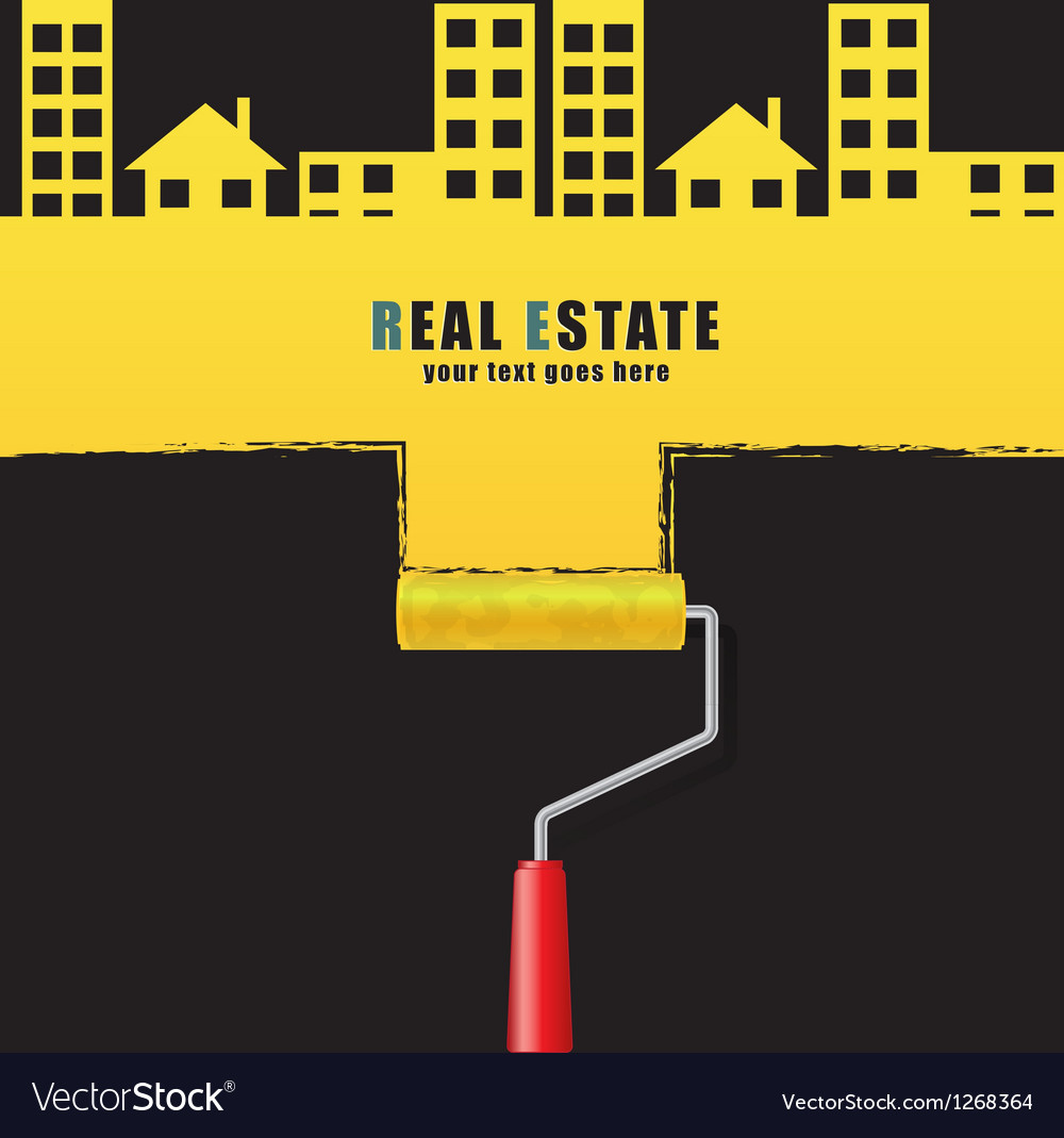 Roller real estate vector | Price: 1 Credit (USD $1)