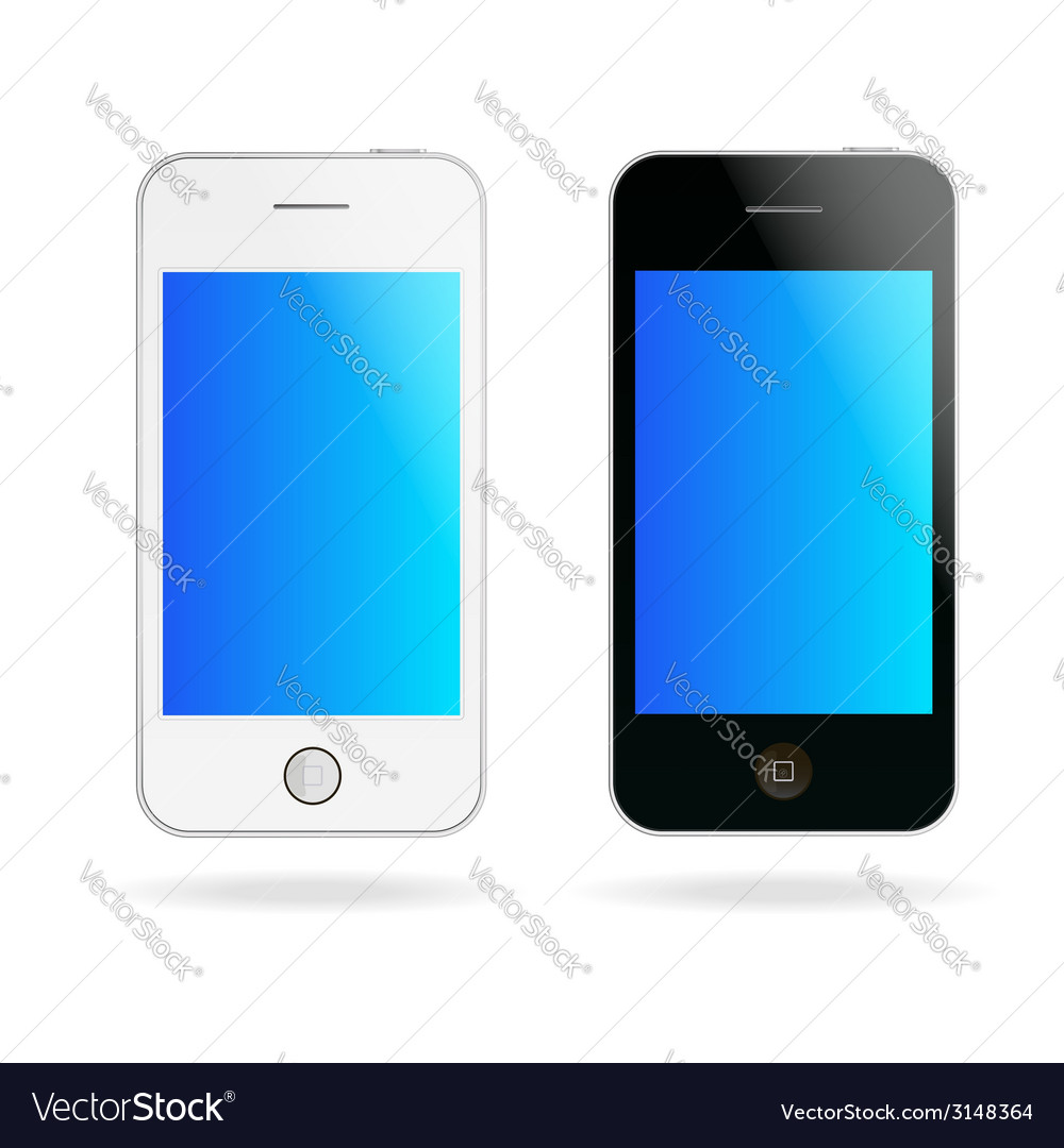 Touch phones vector | Price: 1 Credit (USD $1)