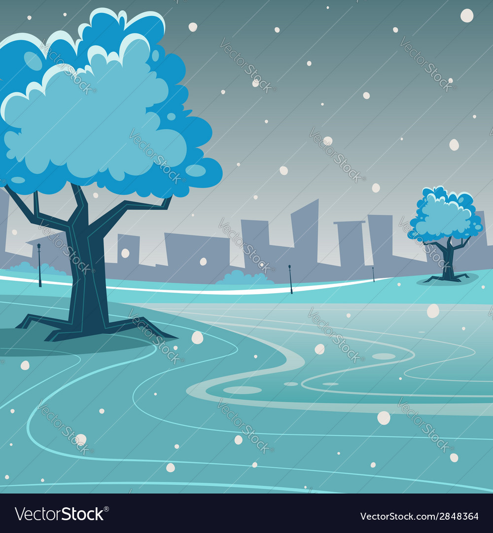 Winter park vector | Price: 1 Credit (USD $1)
