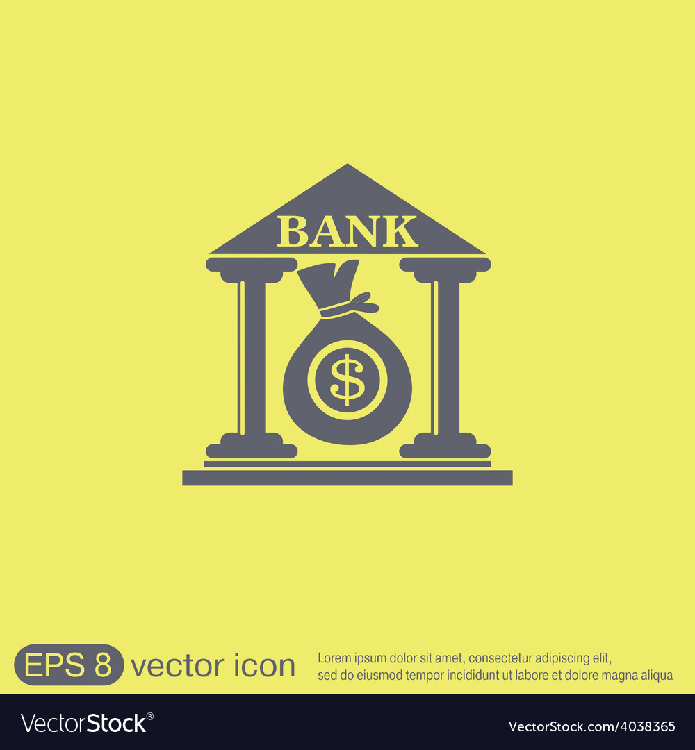 Bank building vector | Price: 1 Credit (USD $1)