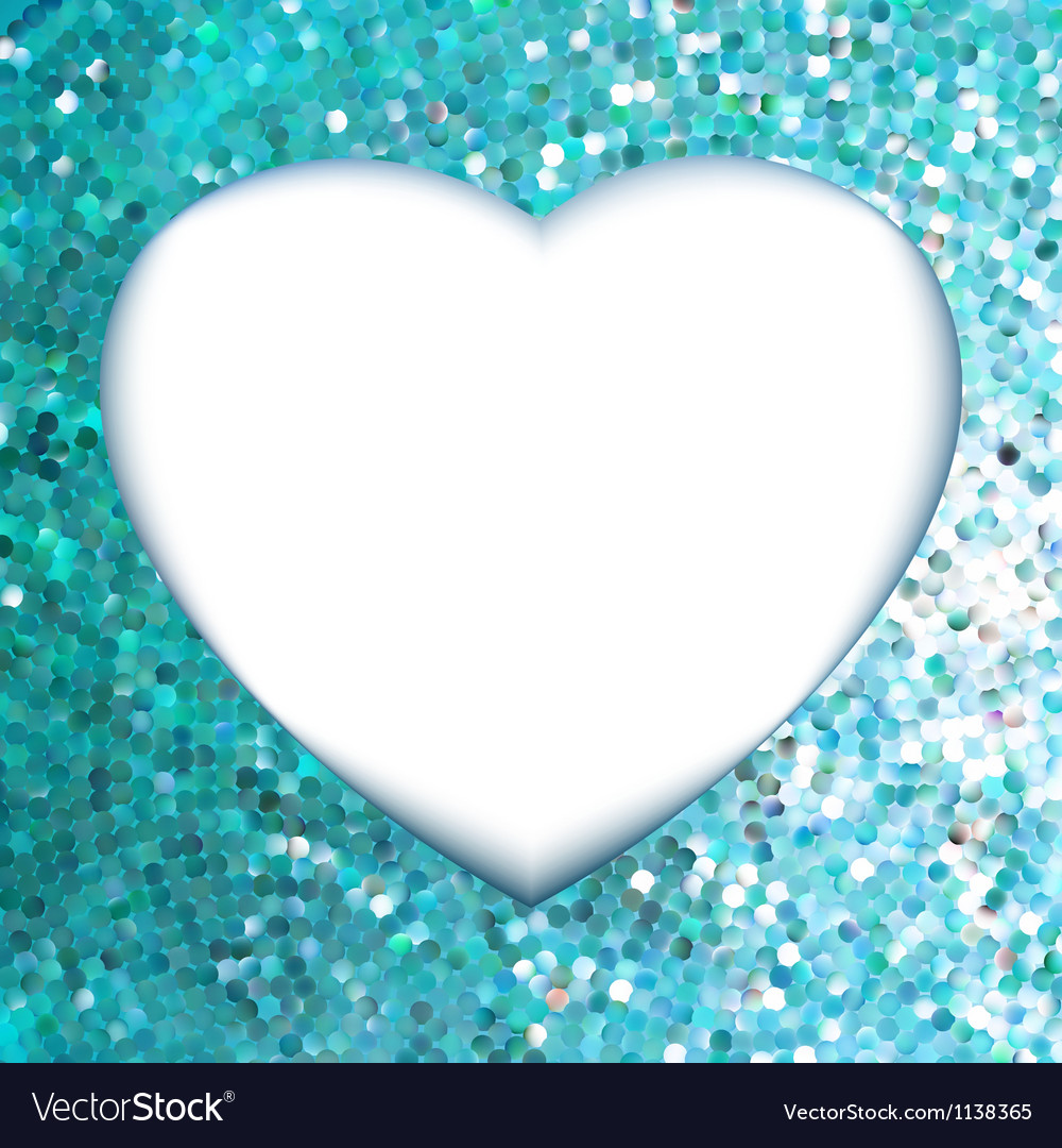 Blue frame in the shape of heart eps 8 vector | Price: 1 Credit (USD $1)