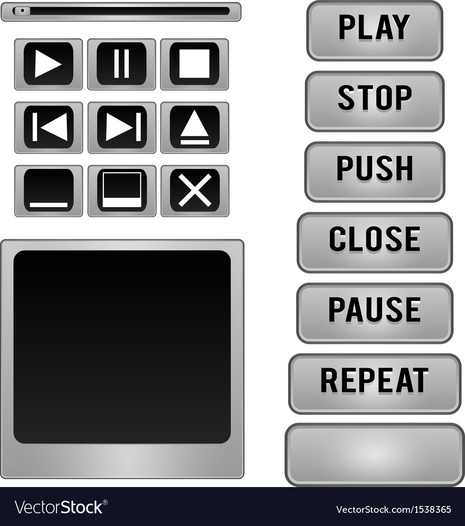 Button player vector | Price: 1 Credit (USD $1)