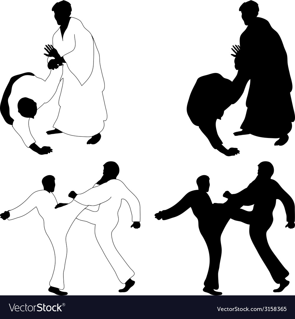 Combat sports aikido vector | Price: 1 Credit (USD $1)