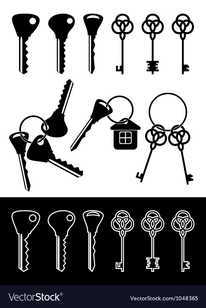 Different keys vector | Price: 1 Credit (USD $1)