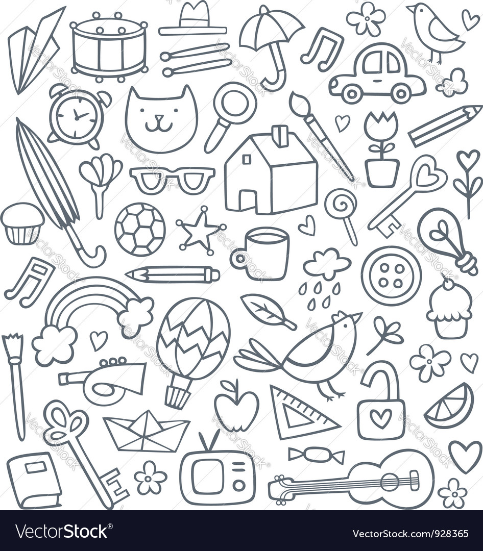Doodle set vector | Price: 1 Credit (USD $1)