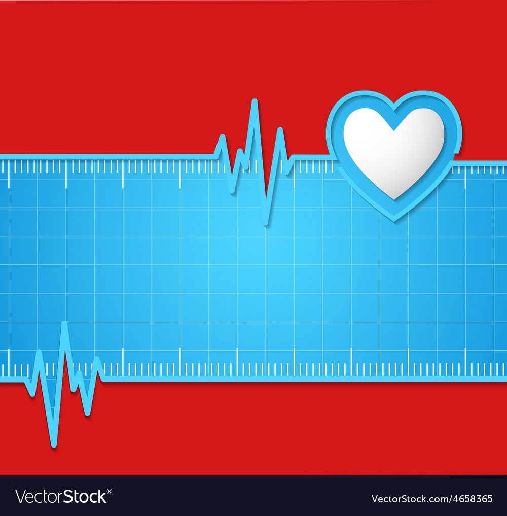 Electrocardiogram useful as background vector | Price: 1 Credit (USD $1)