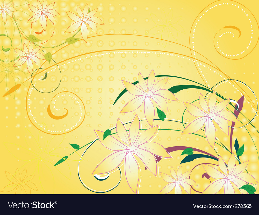 Flowers vanilla vector | Price: 1 Credit (USD $1)
