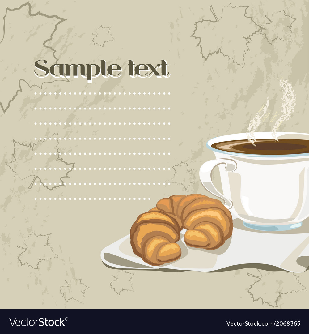 French breakfast vector | Price: 1 Credit (USD $1)