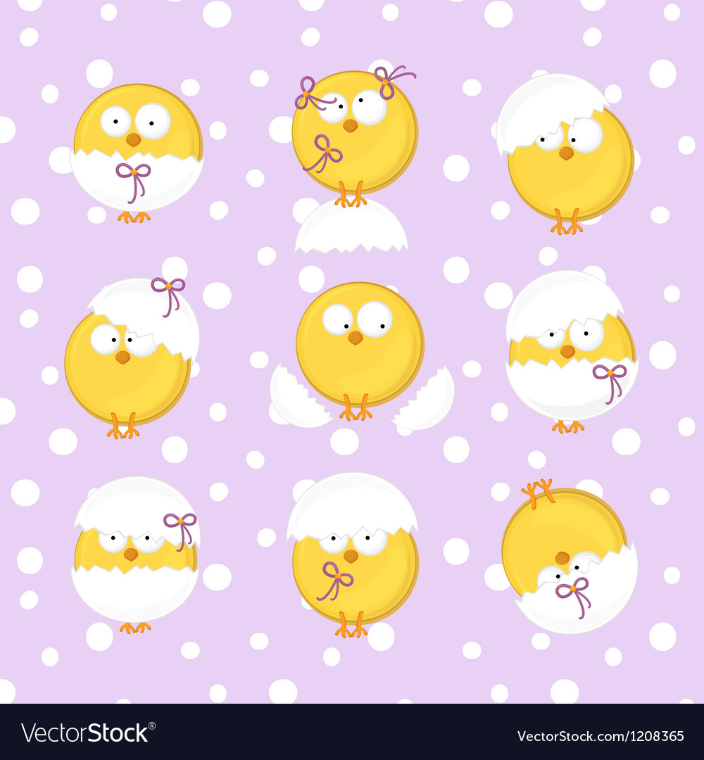 Lilac set from chicken vector | Price: 3 Credit (USD $3)