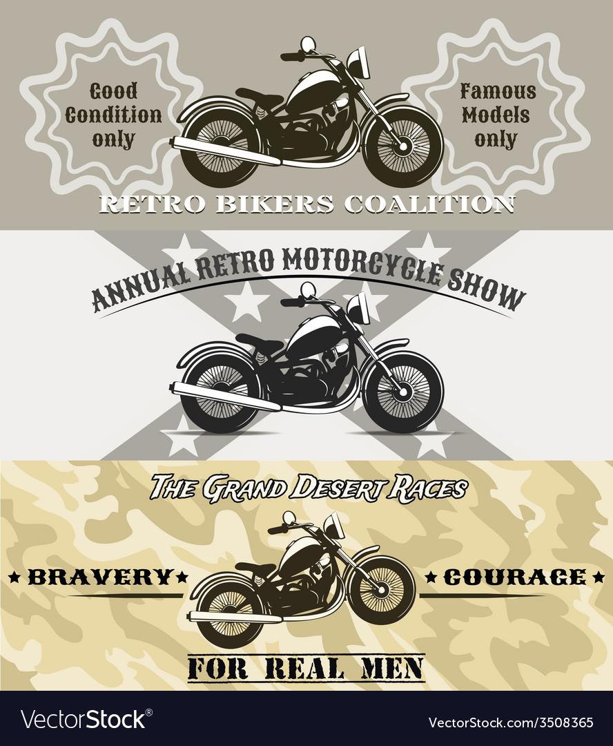 Motorcycle banners vector | Price: 1 Credit (USD $1)