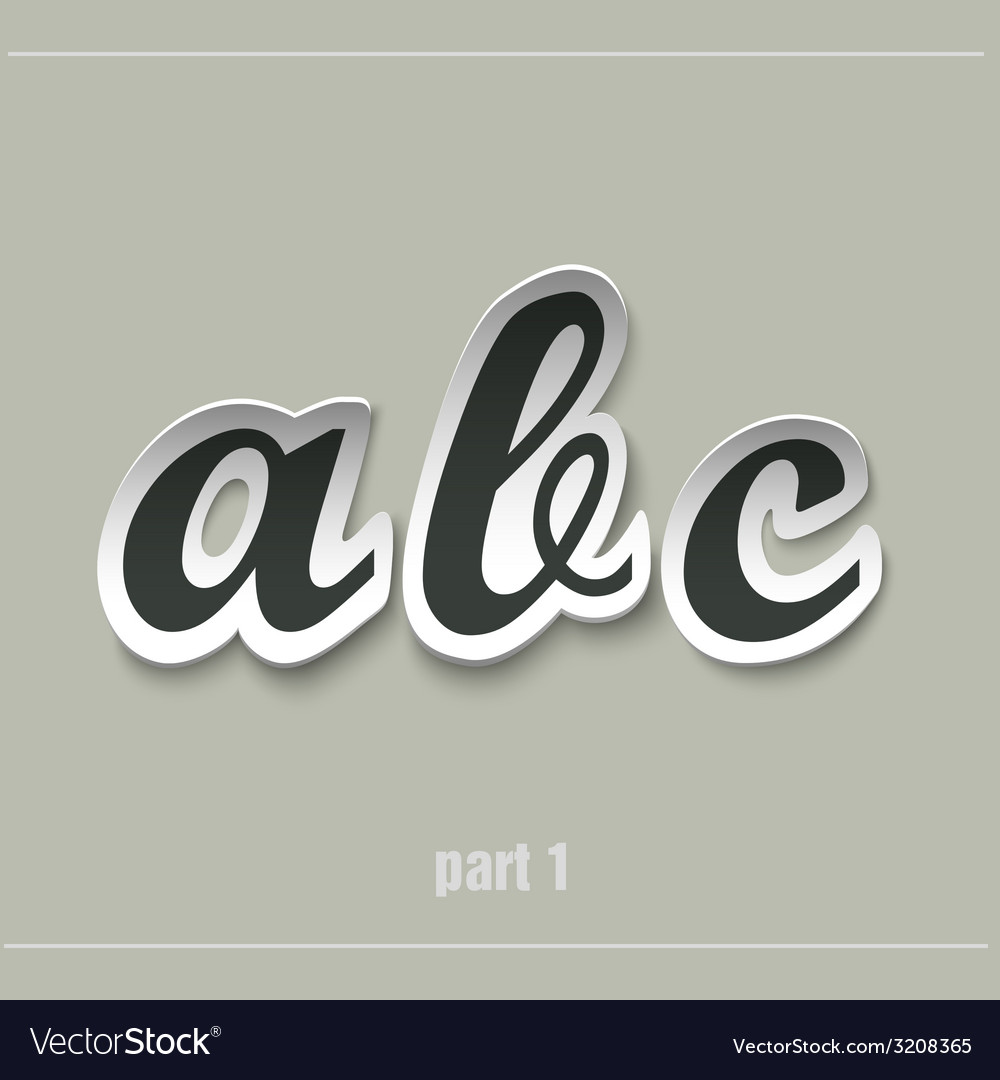 Paper uppercase alphabet with shadows vector | Price: 1 Credit (USD $1)