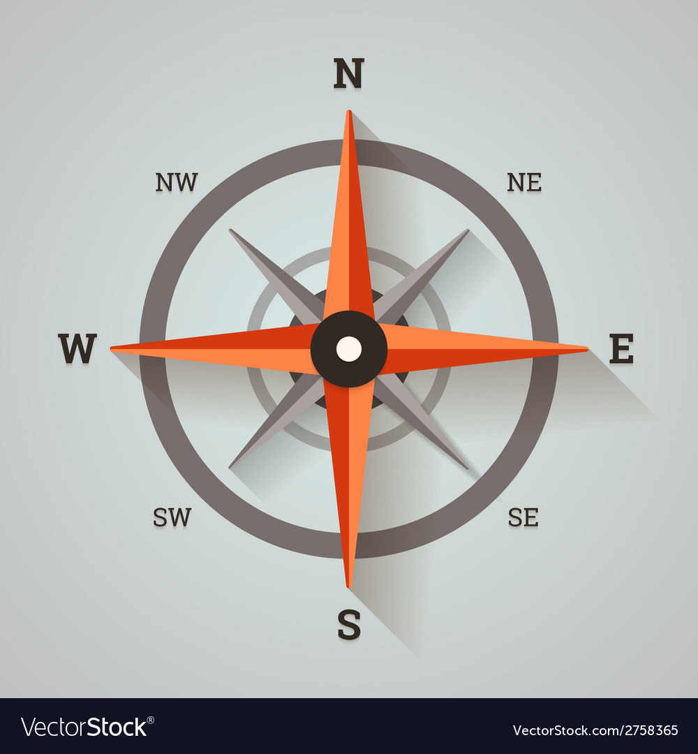 Wind rose compass vector | Price: 1 Credit (USD $1)