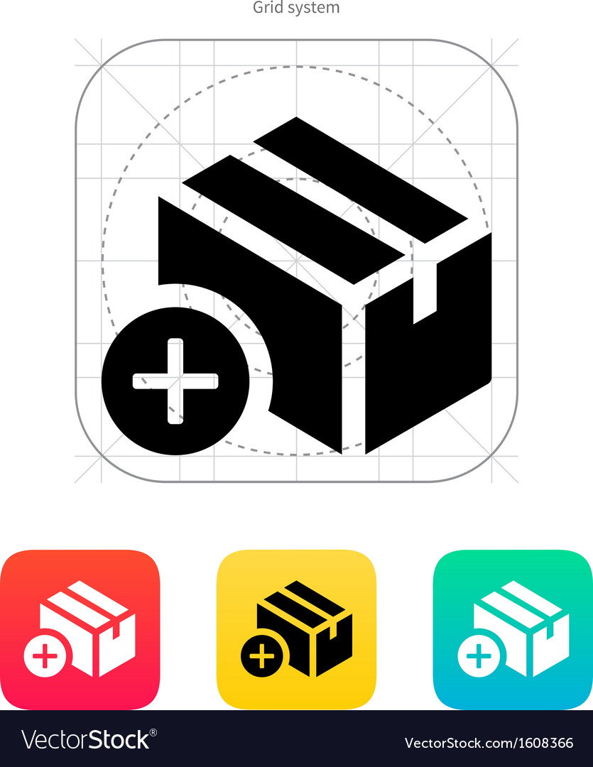 Add box icon vector | Price: 1 Credit (USD $1)