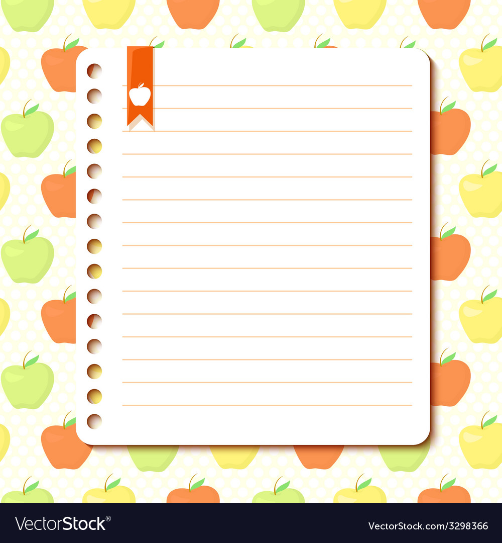 Apple background with space for text vector | Price: 1 Credit (USD $1)