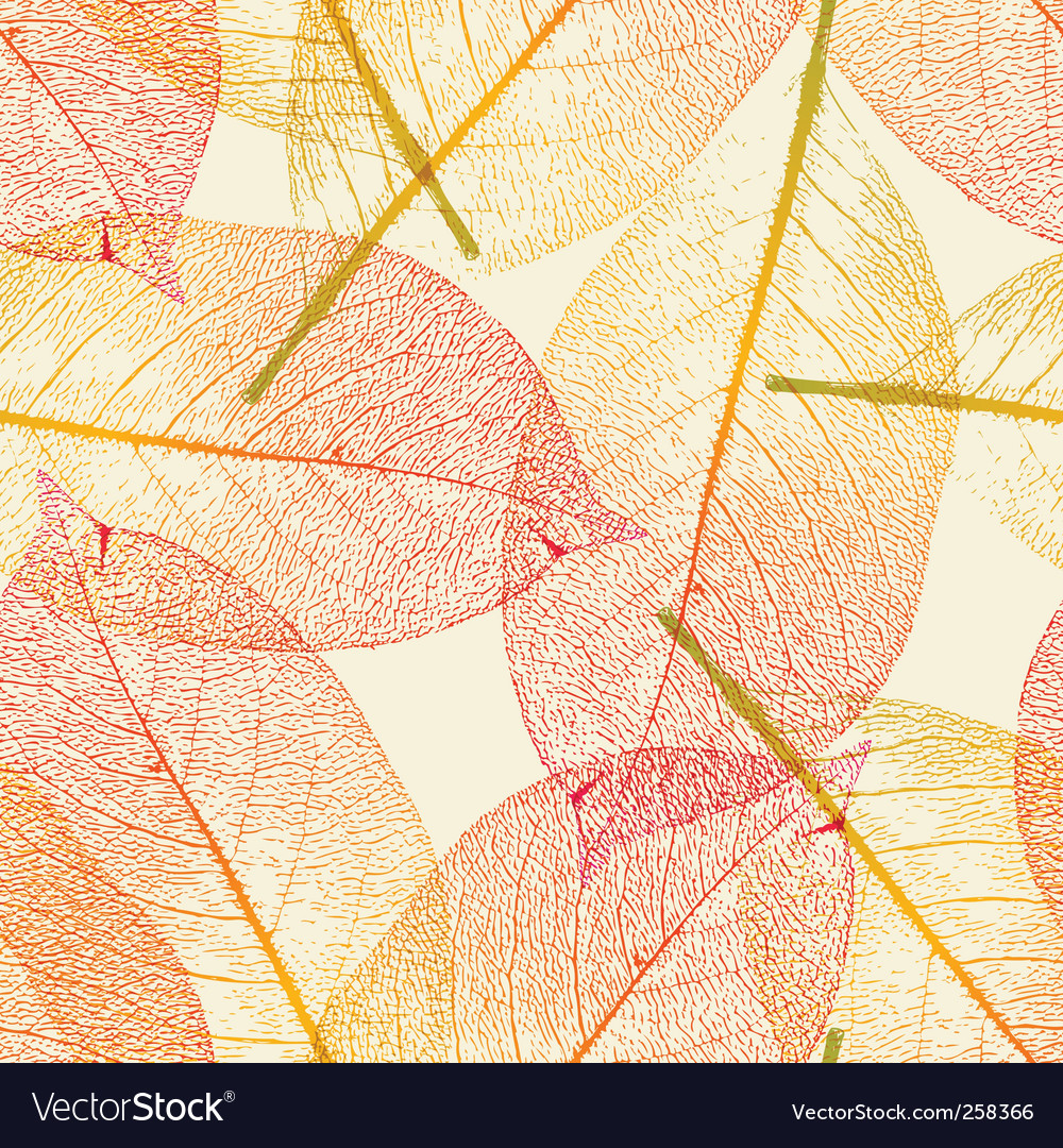 Autumn leaves pattern vector | Price:  Credit (USD $)
