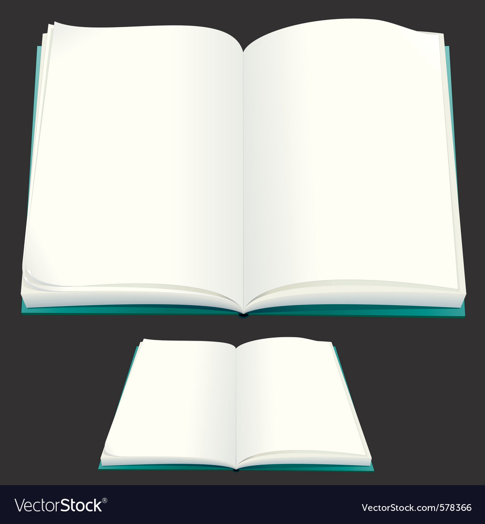 Blank paper book for your text or design vector | Price: 1 Credit (USD $1)