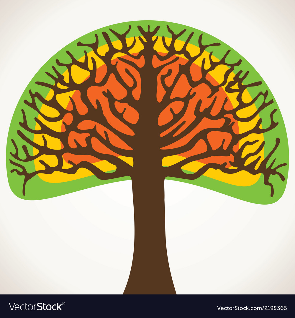 Creative green tree vector | Price: 1 Credit (USD $1)
