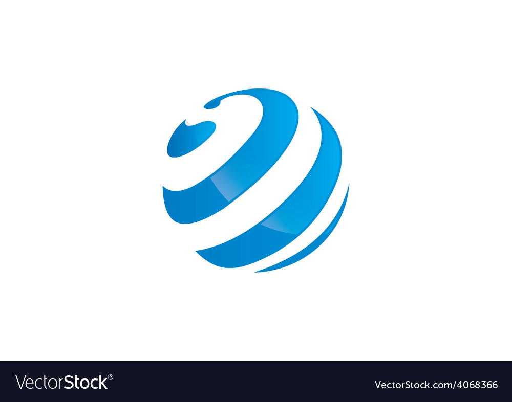 Globe sphere curl communication logo vector | Price: 1 Credit (USD $1)