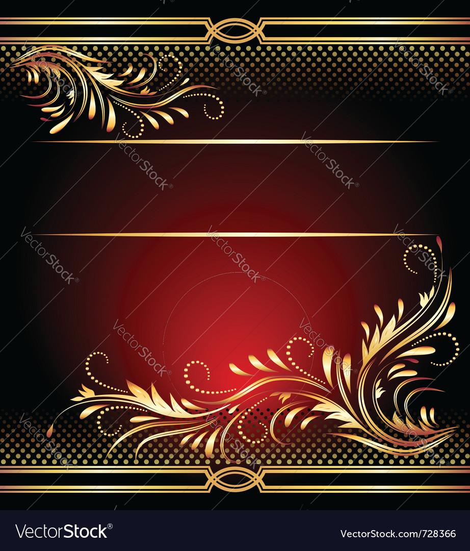 Golden ornament vector | Price: 1 Credit (USD $1)