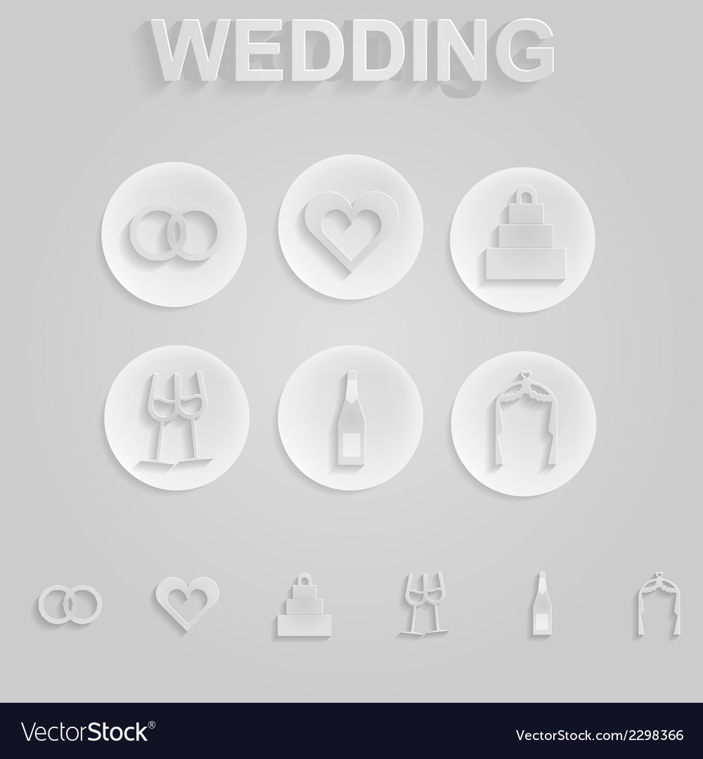 Gray icons for wedding vector   Price: 1 Credit (USD $1)