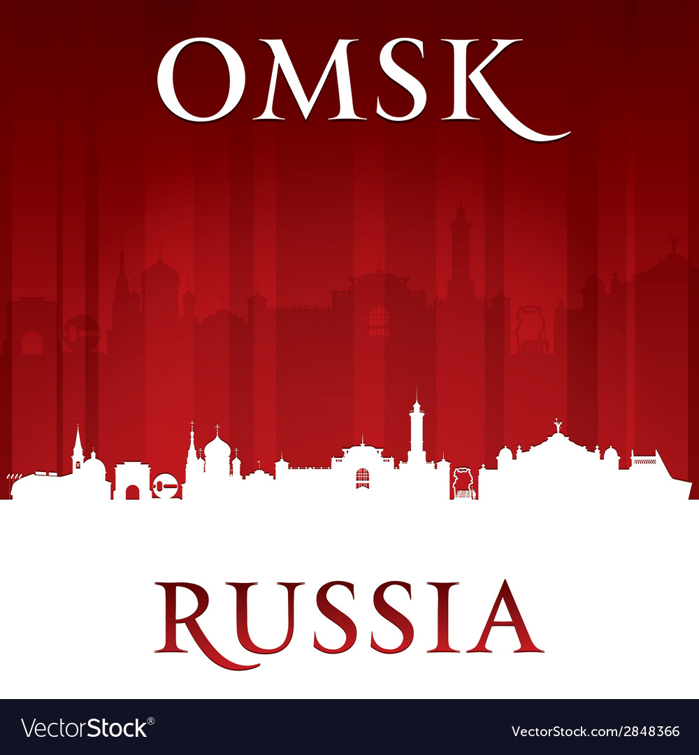 Omsk russia city skyline silhouette vector | Price: 1 Credit (USD $1)