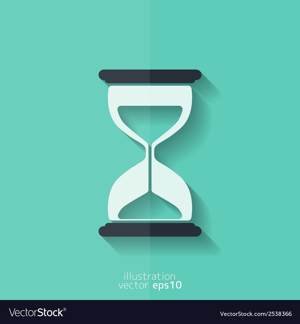 Sand clock icon glass timer symbol vector   Price: 1 Credit (USD $1)