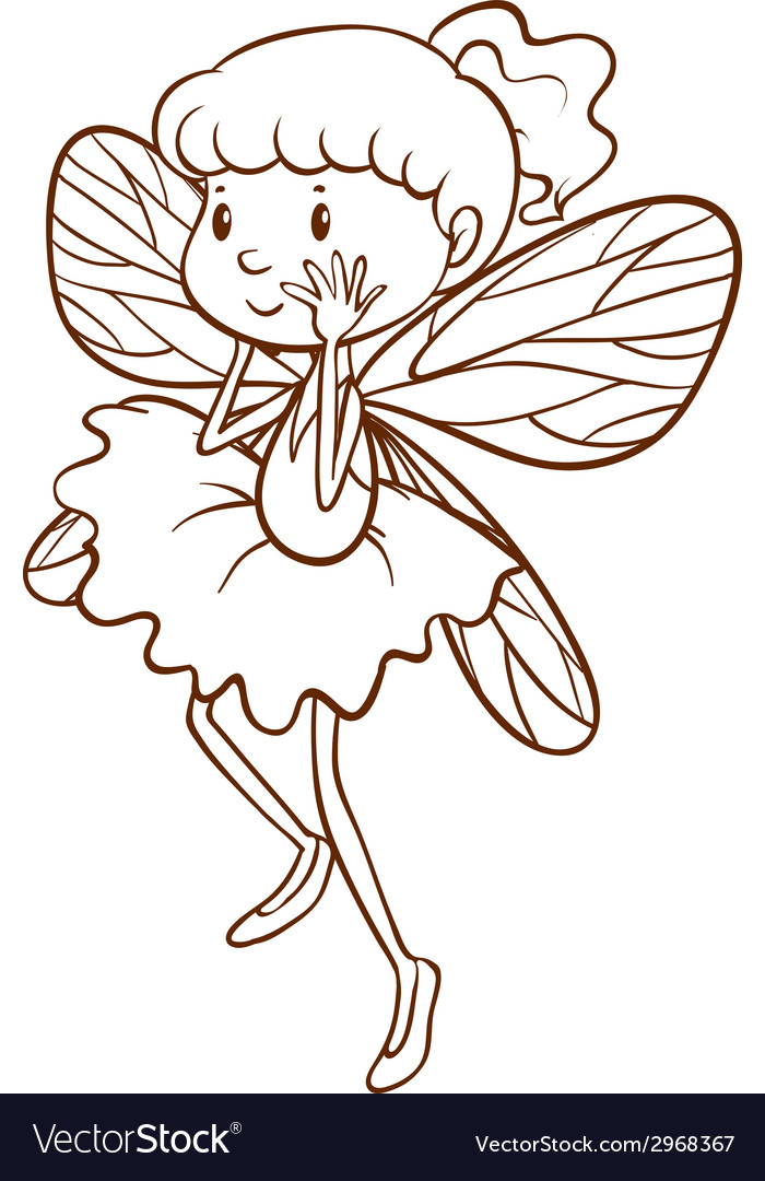 A simple sketch of a fairy vector | Price: 1 Credit (USD $1)