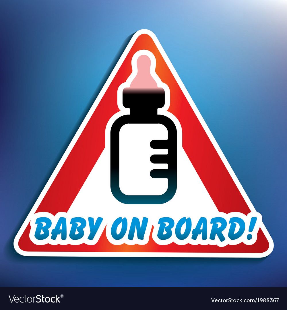 Baby on board sticker vector | Price: 1 Credit (USD $1)