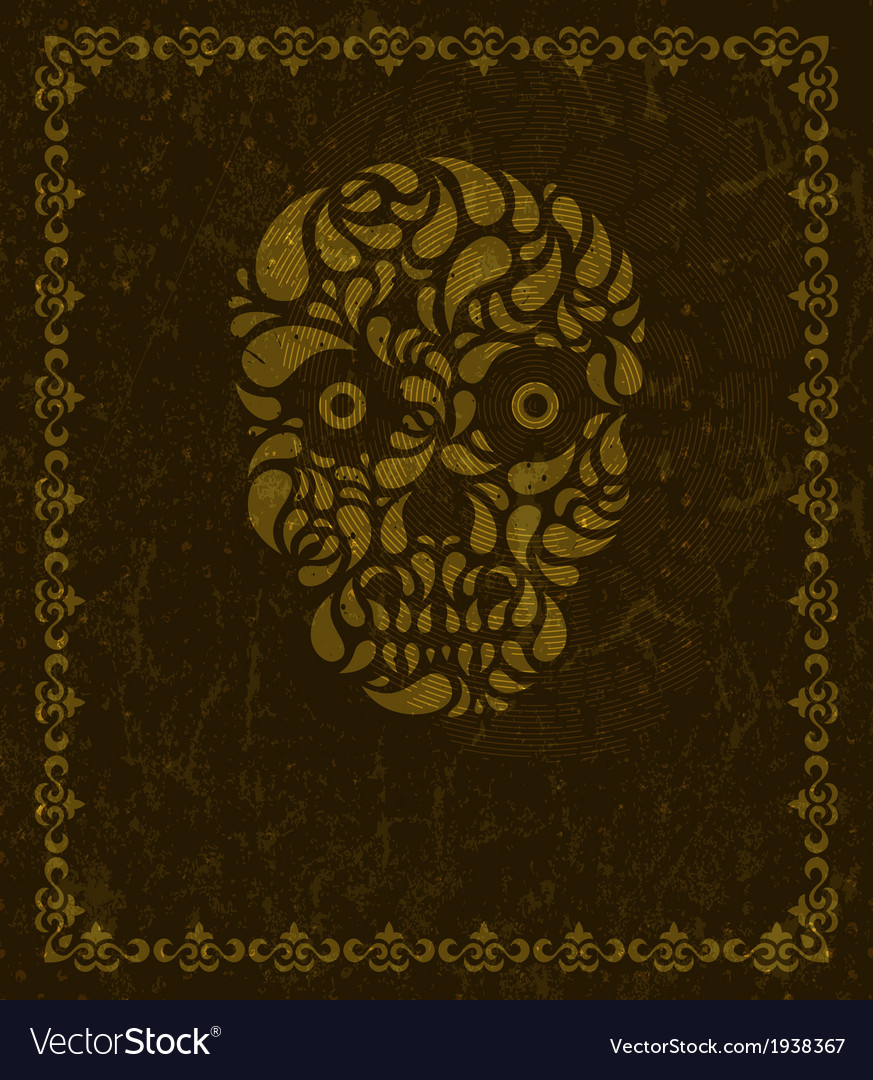 Background with skull and frame vector | Price: 1 Credit (USD $1)