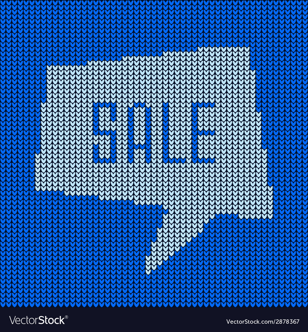 Blue knitted sale bubble vector | Price: 1 Credit (USD $1)