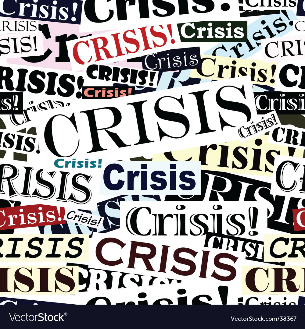 Crisis headlines tile vector | Price: 1 Credit (USD $1)