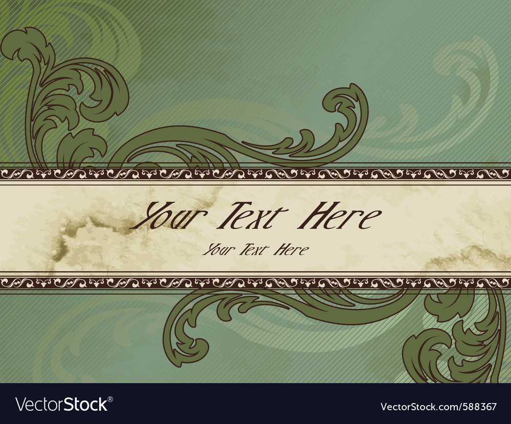 Horizontal victorian vintage banner vector | Price: 1 Credit (USD $1)