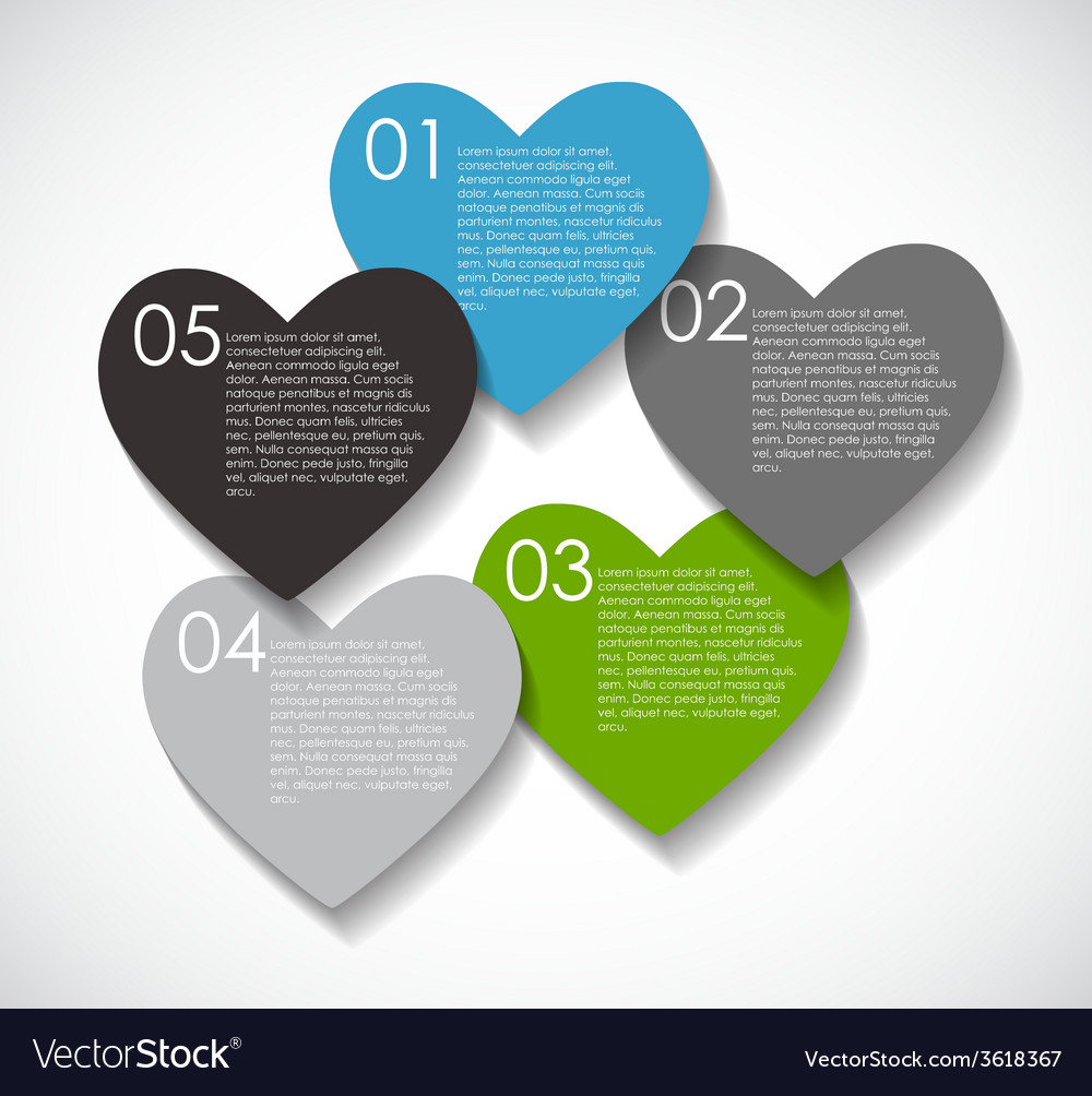 Love infographic templates for business  eps vector | Price: 1 Credit (USD $1)