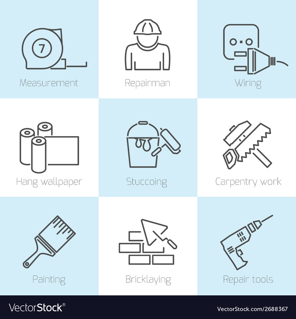 Repair home icons vector | Price: 1 Credit (USD $1)