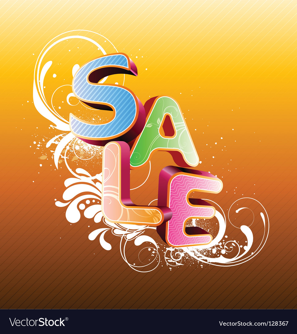 Sale styled design vector | Price: 1 Credit (USD $1)